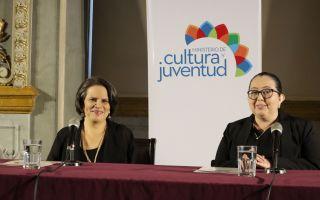 Ministra de Cultura Silvye Durán y Viceministra de Cultura, Alejandra Hernández
