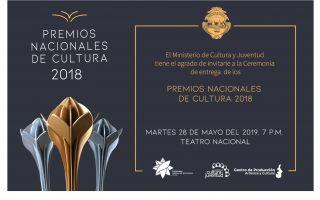 Te invitamos a la ceremonia de entrega de Premios Nacionales de Cultura 2018